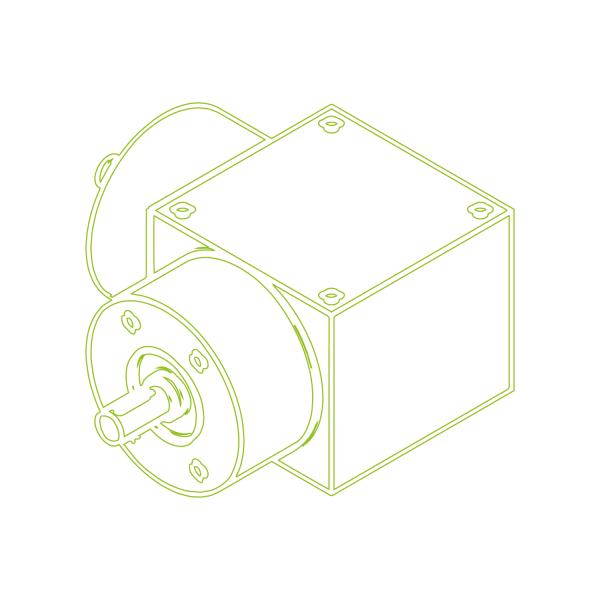 Bevel Gearboxes | KSZ-H-10-L | Drive ratio 1:1