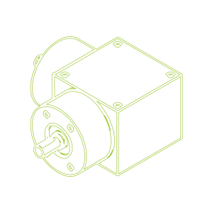 Bevel Gearboxes | KSZ-H-150-L | Drive ratio 3:1