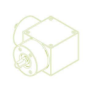 Bevel Gearboxes | KSZ-H-35-L | Drive ratio 2:1