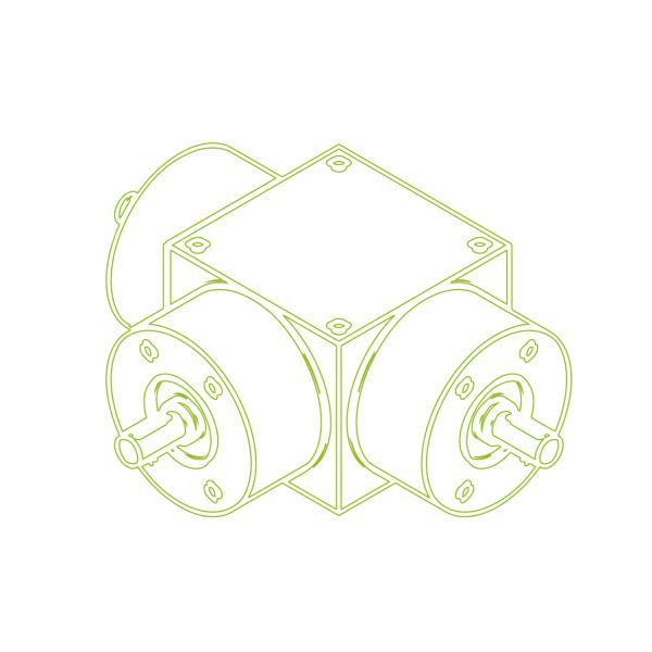 Bevel Gearboxes | KSZ-H-35-T | Drive ratio 1:1