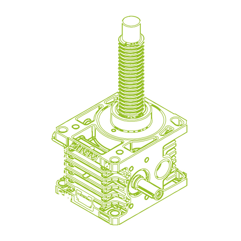 Z R-Rosca trapezoidal 100kN | 55x9