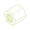 Tuerca de acero hexagonal SKM