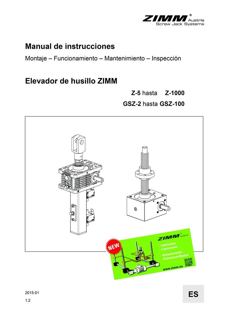 Manual de instrucciones | Elevadores de husillo | Español