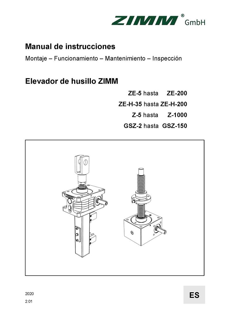 Manual de instrucciones 2.0 | Elevadores de husillo | Español